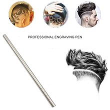 1 Pen + 10 Blade Hair Engraving Pen Magic Oil Head Notch Men Hair Steel Razor Pen Hair Razor Shaving Eyebrow Knife Shaving 1 set hair styling eyebrows beards pen razor salon engraved pen