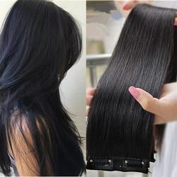 Прямые бразильские человеческие волосы с клипсой для натурального парика, неповрежденные волосы для наращивания, человеческие волосы для ...