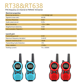 Рация Retevis RT638 RT38 для детей, 2шт 3
