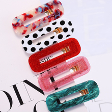 1 PC  Acrylic Hair Clips rectangle Hairpins for Women Barrettes Headband Accessories 2019 NEW arrival