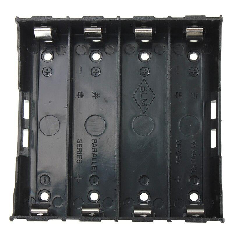 10x Battery Holder Box Case Black for 4x 13 7V 18650 Battery