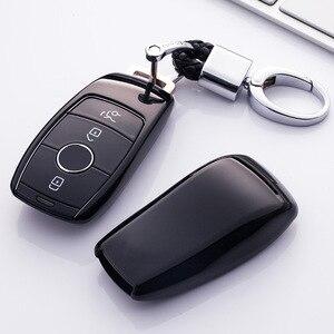 Image 5 - TPU araba anahtar kapağı kılıfı kabuk çanta koruyucu yumuşak Mercedes Benz 2017 için E sınıfı W213 2018 S sınıfı aksesuarları araba styling