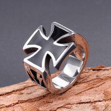 С черным перекрестным креплением Форма Кольцо мужское кольцо