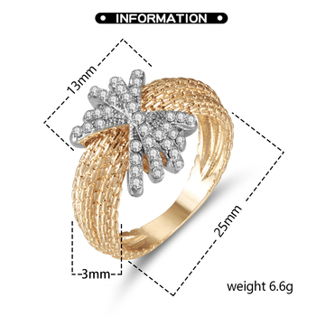 Fashion Ring Customized For Women Silver Color Zircon Full Scale Gold Color Ring Ladies Ring Give Girlfriend A Birthday Gift 2