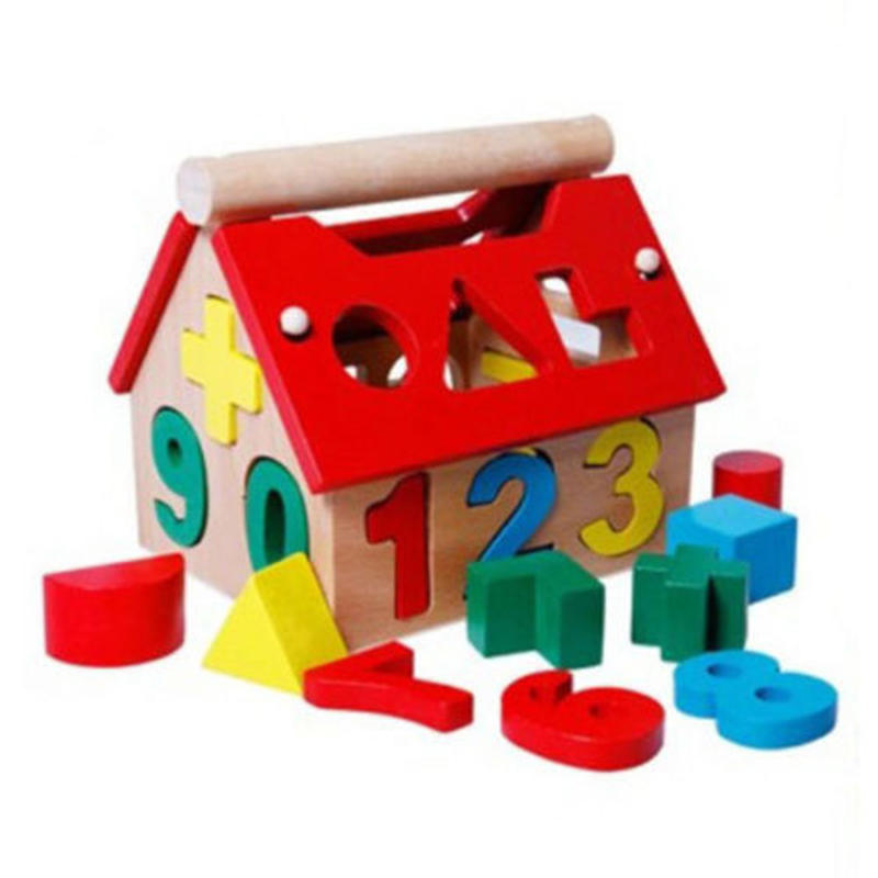 New Arrival Children Toys Digital Number House Assembling Blocks Educational Intellectual Toys Early Learning Toys For Baby
