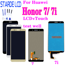For Huawei Honor 7 7i LCD Display Touch Screen Digitizer Assembly For Honor7 7i Replacement Parts LCDs Glass with Free Tools brand new replacement parts screen for huawei ascend g8 lcd display with touch digitizer tools assembly 1 piece free shipping