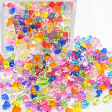 200 sztuk partia wielu kolorach 6*9mm akrylowe kryształowe diamentowe nieregularne kamień w szachy gry elementów do gry planszowej akcesoria tanie tanio TBR630