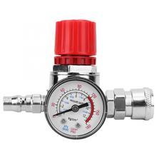 Регулятор давления переключатель управления манометр для клапана с мужской/гнездовой разъем для воздуха пневматический компрессор инструменты