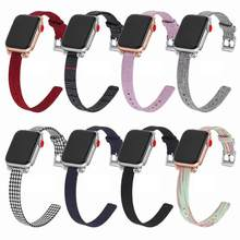 fashion nylon canvas strap jewelry section Band For Apple Watch iWatch Series1234 38 44 40 42mm Strap(China)
