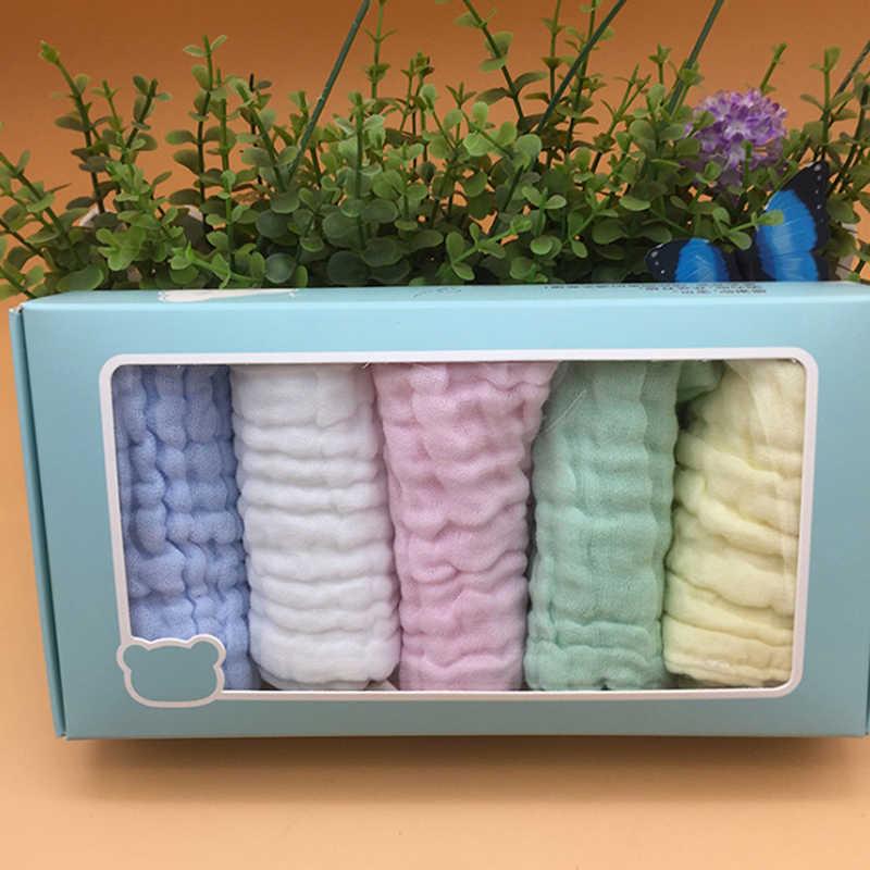 5 piunids/lote Toalla de bebé Baberos para recién nacidos toallas de gasa de muselina pañuelo para niños bufandas de paño para alimentación
