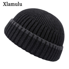Skullies Beanies Short Skullcap Men Winter Beanie