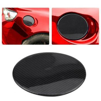 Real Carbon Fiber Fuel Cap Oil Gas Tank Cover Trim Round For Toyota 86 Subaru BRZ Car Accessories Car Styling Car Trim