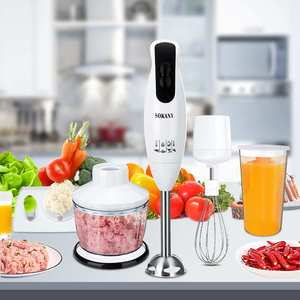 5 in 1 600W Electric Blenders Stick Whisk Juicer Mixer Portable Handheld Vegetable Meat Grinder Food Chopper Stainless Steel+ABS