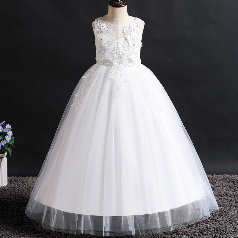 2019 Girls Ball Gowns Wedding Party Flower Girl Dresses   First Communion Princess Dress 4-12 Years Costume Vestido Comunion