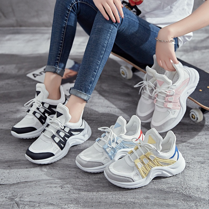 Plus Size women casual shoes breathable walking white platform ladies sneakers Spring Summer Women Vulcanize Shoes 2020 VT602
