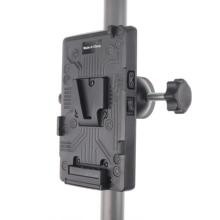BP Batterie Zurück Pack Adapter V Schloss Berg Platte für Sony D Tap DSLR Rig Externe