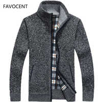 2019 Autumn Winter Men's SweaterCoat Faux Fur Wool Sweater Jackets Men Zipper Knitted Thick Coat Warm Casual Knitwear M-3XL