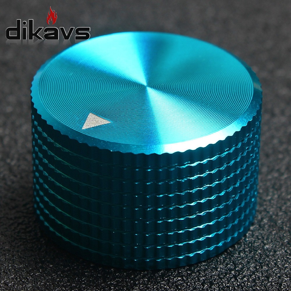1PCS High Quality 100% Aluminum Potentiometer Knob  25*15mm Volume Audio Adjustment Knob- Blue