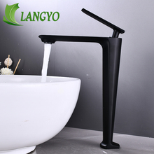 Faucet Sink Mixer Tap-Basin Water-Tap Tall Single-Lever Black/chrome Decked New-Design