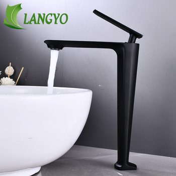 NEW Design Tall Bathroom Basin Faucet Black/Chrome Single Lever Hot and Cold Basin Faucet Sink Tap Basin Mixer Water Tap Decked dofaso ktiche black brass sink faucet single handle mixer tap hot and cold bathroom basin faucet