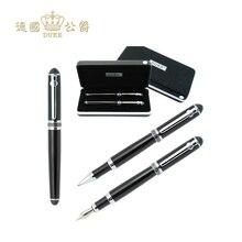 고품질 듀크 D2 롤러 볼 펜 + 만년필 럭셔리 중간 0.5mm 쓰기 비즈니스 선물 펜 사무실 및 학교 문구