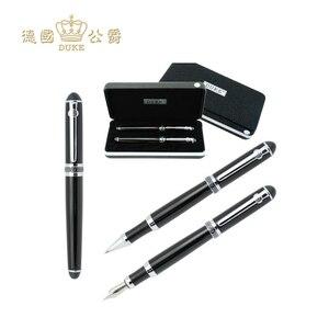 Image 1 - Duke D2 stylo à bille et fontaine de haute qualité, stylo taille moyenne 0.5mm, écriture pour cadeaux daffaires, papeterie de bureau et école