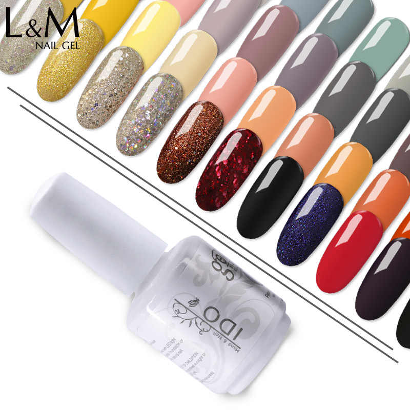 1 PC Gel Nail Polish UV/LED Arang Ido 84 Series Kuku Jelas Ballerina Nai DIP Kuku Gel Sorot tahan Lama Rendam Off