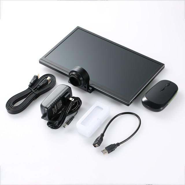 """كامل HD 1080P 60FPS مستشعر سوني 11.6 """"المتكاملة عرض قياس المجهر كاميرا HDMI عدسة تكبير الفيديو USB تخزين PCB إصلاح"""