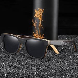 Image 1 - EZREALหรูหราแว่นกันแดดVintageสีดำกรอบแว่นตากันแดดไม้แว่นตากันแดดPolarizedผู้ชายแว่นตากันแดดไม้ไผ่
