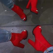 Women Zip Peep Toe Ankle Boots Autumn New Ladies Snakeskin Starry Sky Platform T