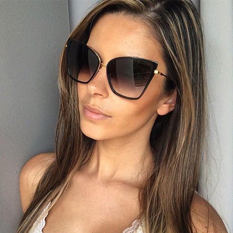 Женские Винтажные Солнцезащитные очки кошачий глаз, зеркальные солнцезащитные очки в стиле ретро, UV400, 2020