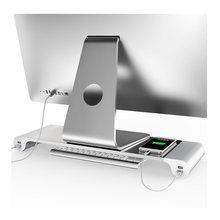 Tragbare 4 Ports USB Laptop Computer Monitor Halter Halterung Sparen Raum Erhöhen Stand EU Stecker Für Tabletten PC Laptops
