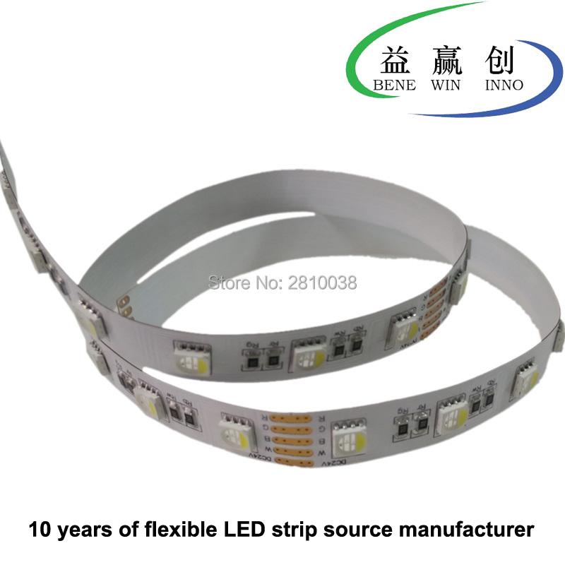 100M/Lot Cri 80+ 19.2W/M flexible led strip 5050rgbw DC12/24V 60leds/M 4 in 1 led strip light 10mm wide led light strip led tape