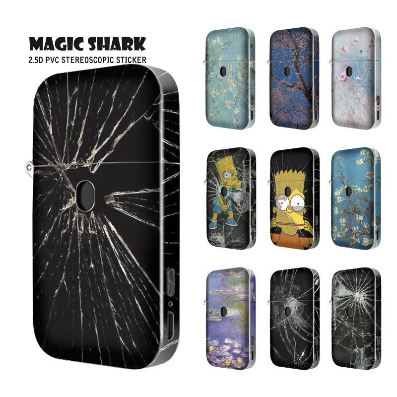 Magic Shark Flower Plum Blossom Shattered Glass Simpson Stereo 2.5d Vape Pod Wrap Film Skin Case Sticker For Aurora Play