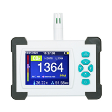 Co2-Meter Monitor Detector Carbon-Dioxide Air-Quality Portable with Rechargeable-Battery