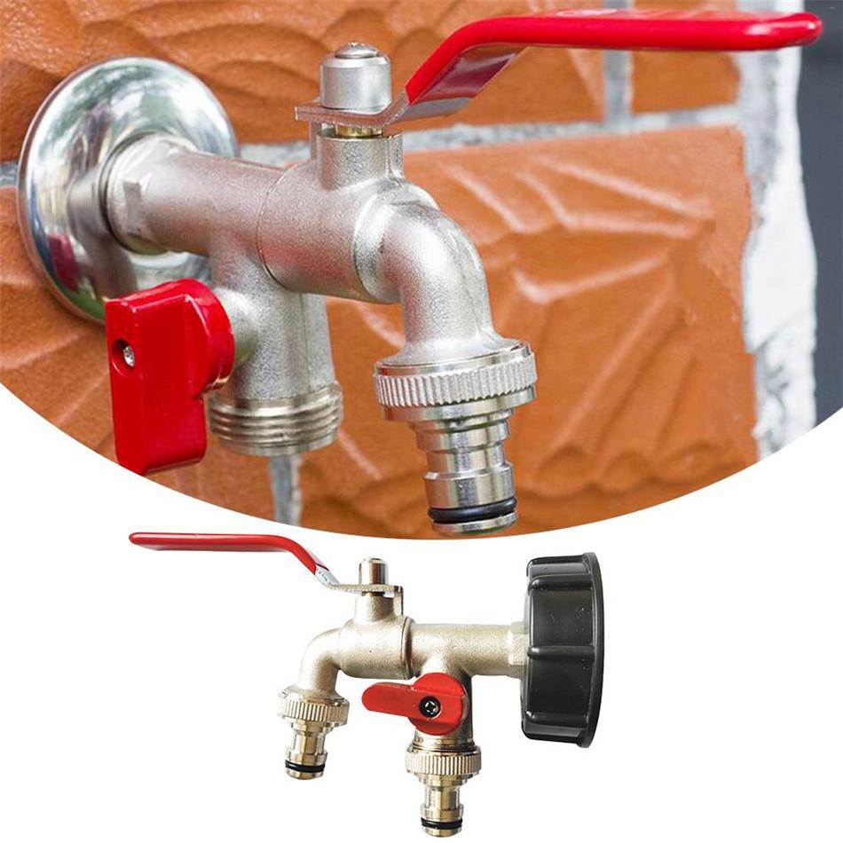 VOGVIGO 1000 Liter IBC Tonnen Eimer Messing Auslauf Double Tap Adapter Home Garten Bewässerung Schalter Anschlüsse Werkzeuge