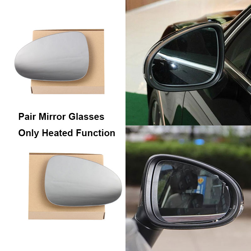 Door Mirror Glass Driver Side Heated W//Backing Plate For Volkswagon Toureg 2011