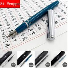 Wing Sung 601A Vacumatic Brunnen Stift Kolben Typ Tinte Stift Silber Kappe Business Schreibwaren Büro Schule Liefert Schreiben Geschenk