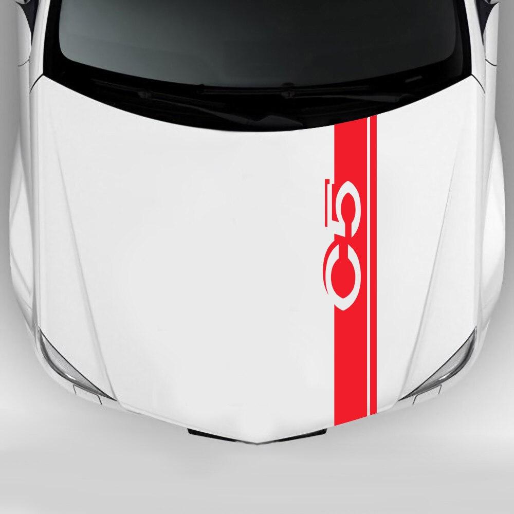 Etiqueta do carro para citroen c5 2.0 2.3 3.0 1.6 t 1.8 t 350thp 360thp 380thp 400thp cvvt aircross suv acessórios do carro capô decalque