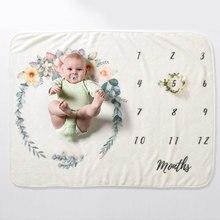 Baby Milestone Blankets Newborn Comforta