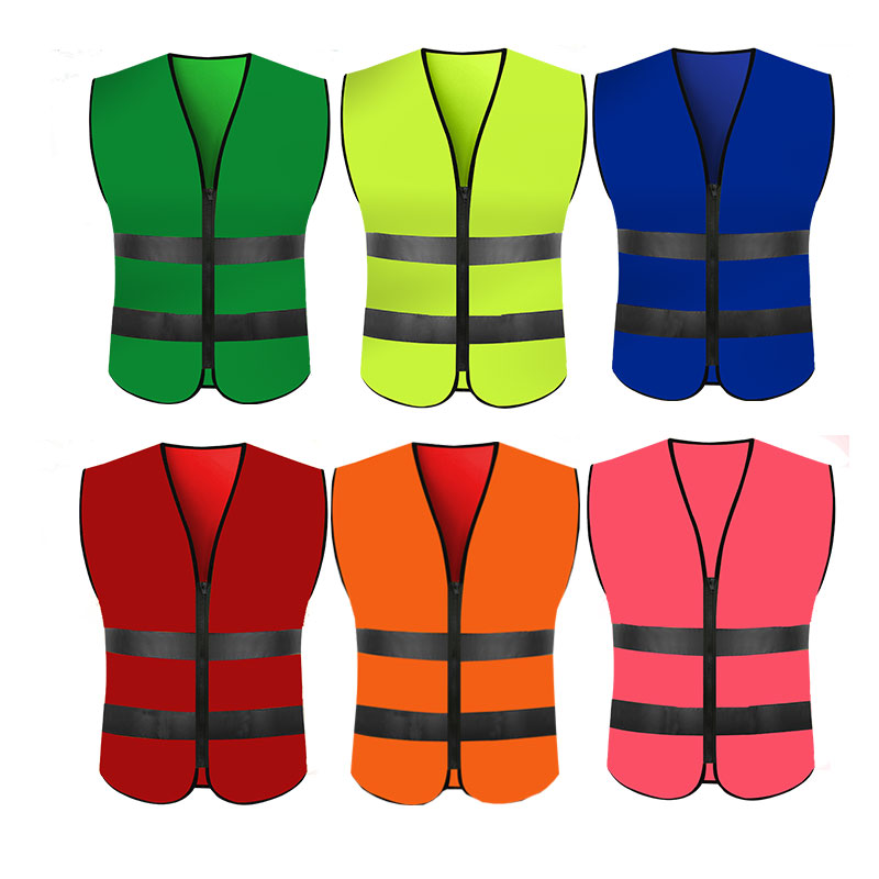 High Visibility Reflective Vest Workplace Road Working Clothes Motorcycle Cycling Sports Outdoor Reflective Safety Clothing