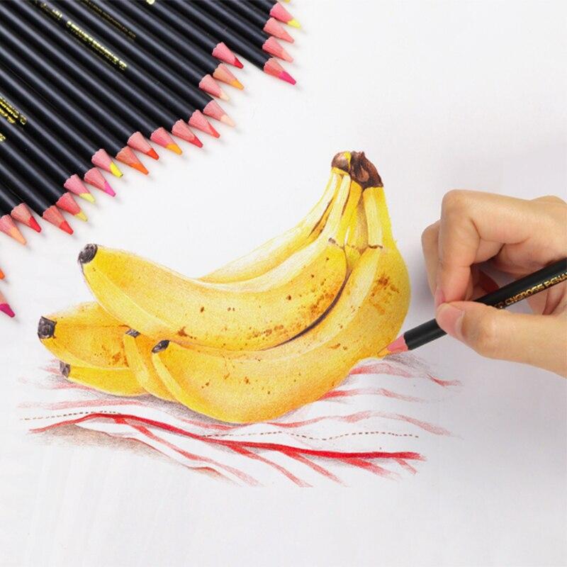 Lápices de colores de aceite profesional de 120 colores conjunto de lápices de acuarela dibujo de pintura de Color de madera lapis de arte - 2