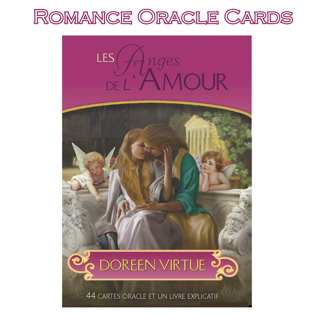 44Pcs/pack Romance Angel Oracle Cards Full English Mysterious Fate Doreen Virtue Board Game Deck Tarot Cards