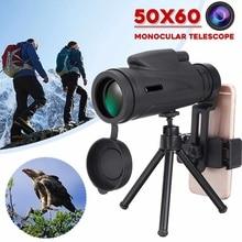 50X60 80x100 зум Монокуляр мощный телескоп высокое качество для мобильного военного окуляра ручной объектив охотничья оптика