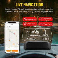 On Board Computer With Bluetooth Live Navigation HUD OBD2 Speed Fuel Consumption Head Up Display Car Electronics