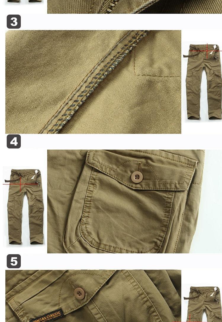 KSTUN New Men's Cargo Pants Casual Overalls 100% Cotton Straight Cut Male City Military Tactical Pants Men Loose Fit Trousers No Belt 24