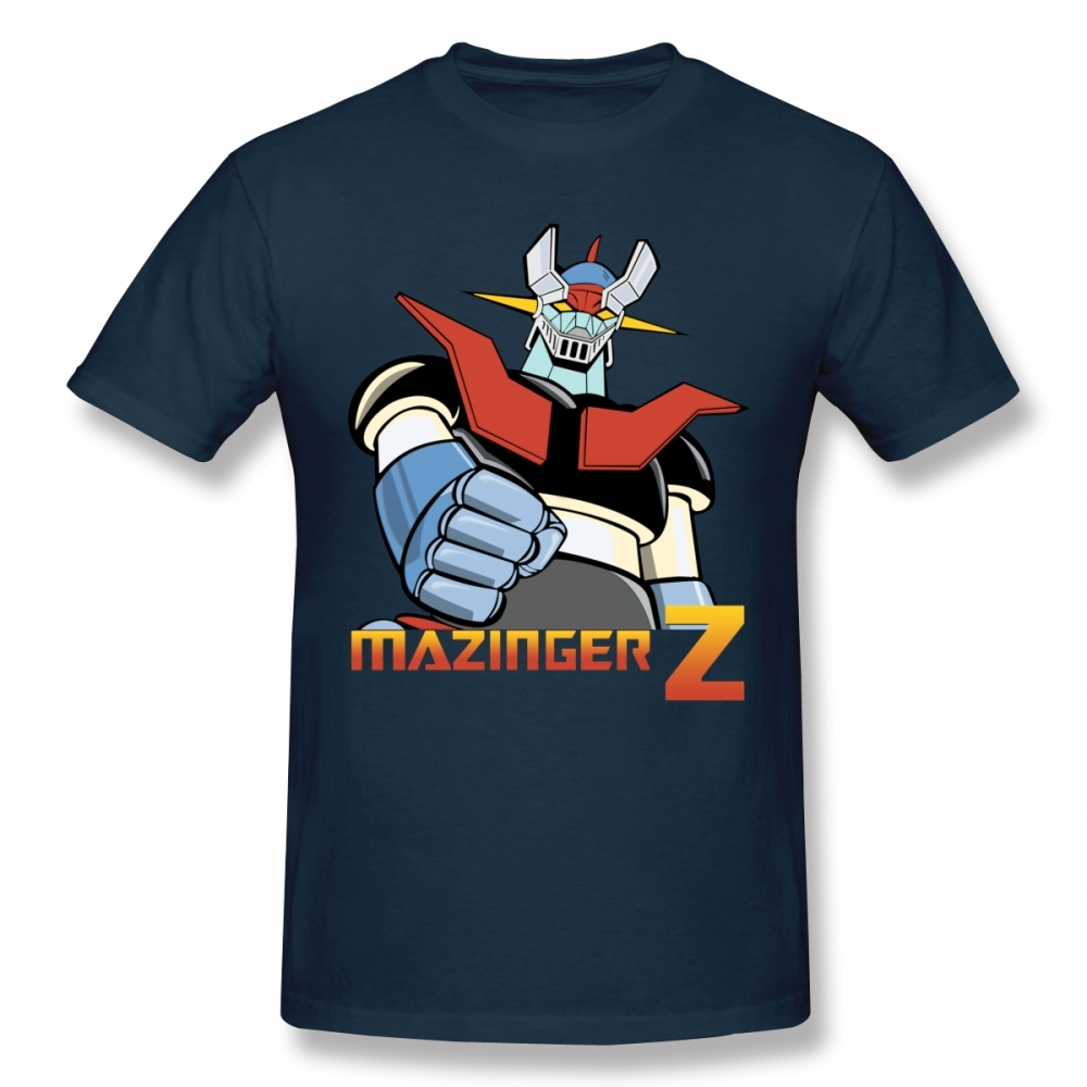 Cool Mazinger Z Robot T Shirt For Man New Short Sleeve Anime O-neck Tee Shirt High Street Vaporwave Fashion Men's Clothes
