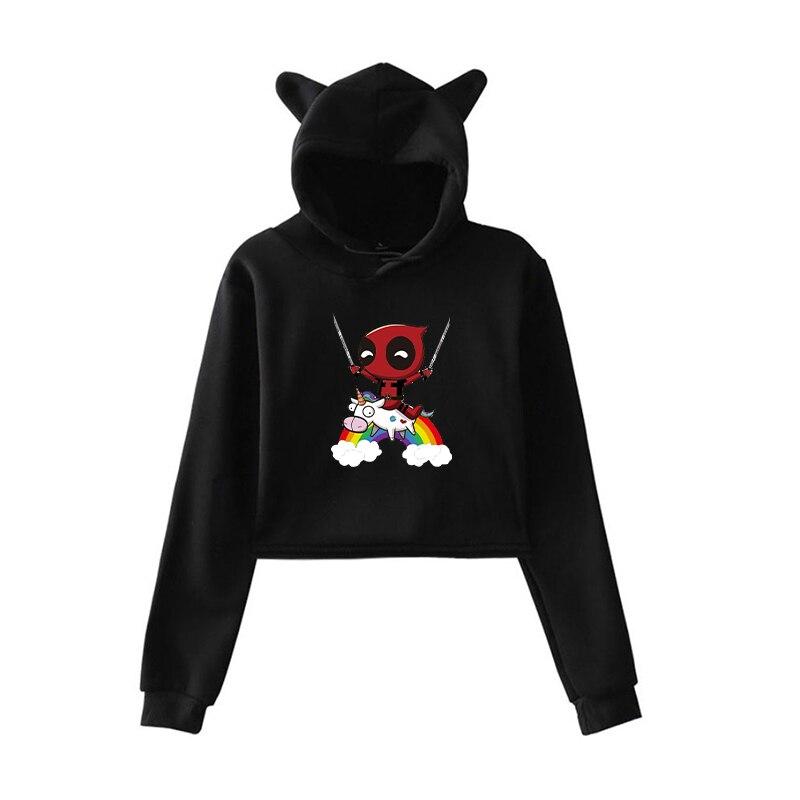 Harajuku Sweatshirt Women Hoodies Funny Unicorn Clothing Pullover Hoodies For Teenage Girls Autumn Warm Streetwear Clothes