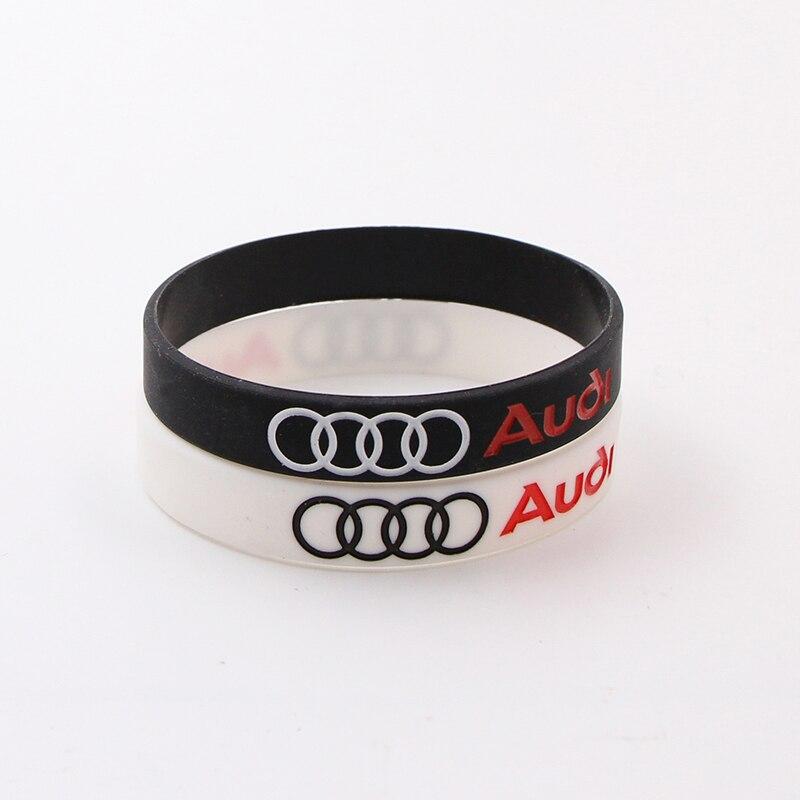 1pcs Car Badge Wristband Silicone Bracelets For Audi A3 A4 A5 A6 A7 A8 Q3 Q4 Q5 Q6 Q7 B8 B6 C6 8p B7 C5 8v B5 Auto Accessories