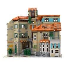 MOC – blocs de Construction de Style italien, Architecture de ville, jouet à assembler, modèle modulaire, cadeau éducatif pour enfant